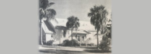 Historic photo of clubhouse built in 1950