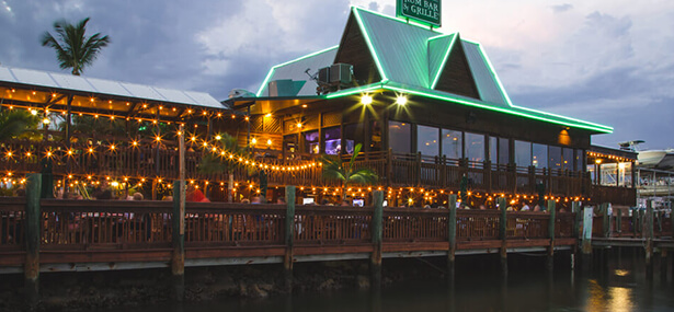 Restaurant on pier